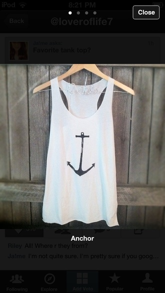 shirt anchor tank top