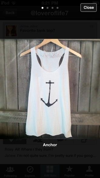 shirt tank top anchor
