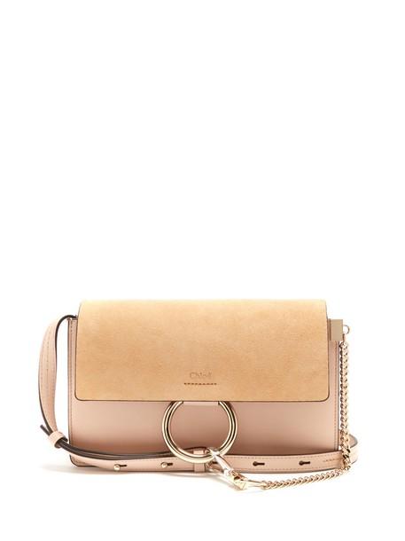 Chloe bag shoulder bag leather suede light pink light pink