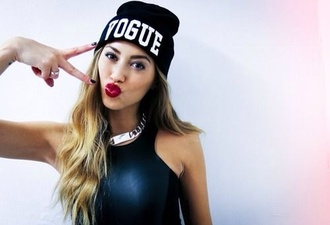 hat vogue cute black jewels