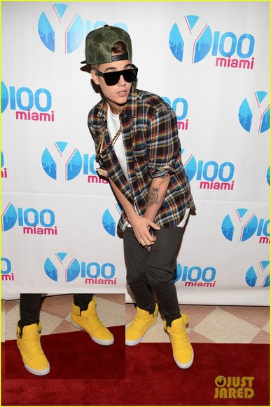 shoes yellow justin justin bieber yellow shoes