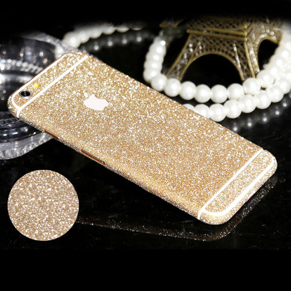 Luxury bling sparkling body protective decal skin sticker for Coque iphone 6 miroir