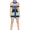 Striped elastic bandage bodycon dress