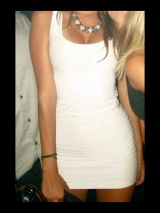 dress white dress bandage dress bodycon dress black dress