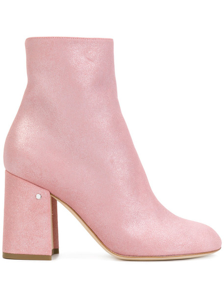 women boots ankle boots leather suede purple pink shoes