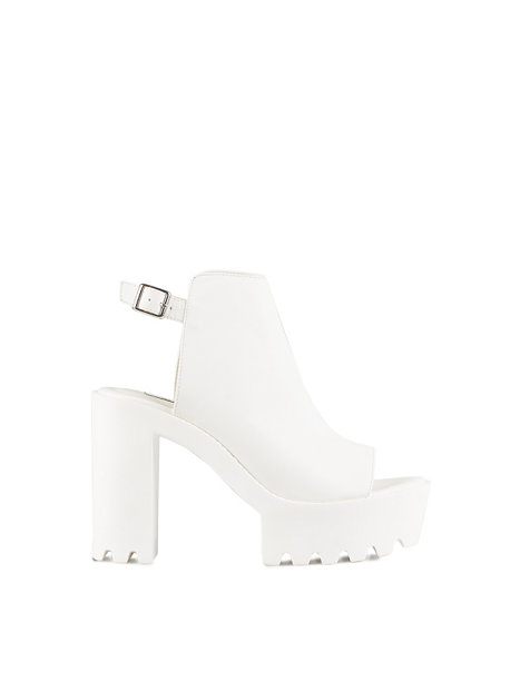 Chunky Open Heel Boot, NLY Shoes