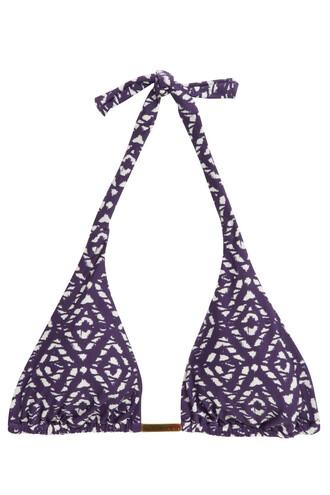 bikini bikini top triangle bikini triangle print swimwear