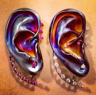 jewels ear cuff diamond earrings