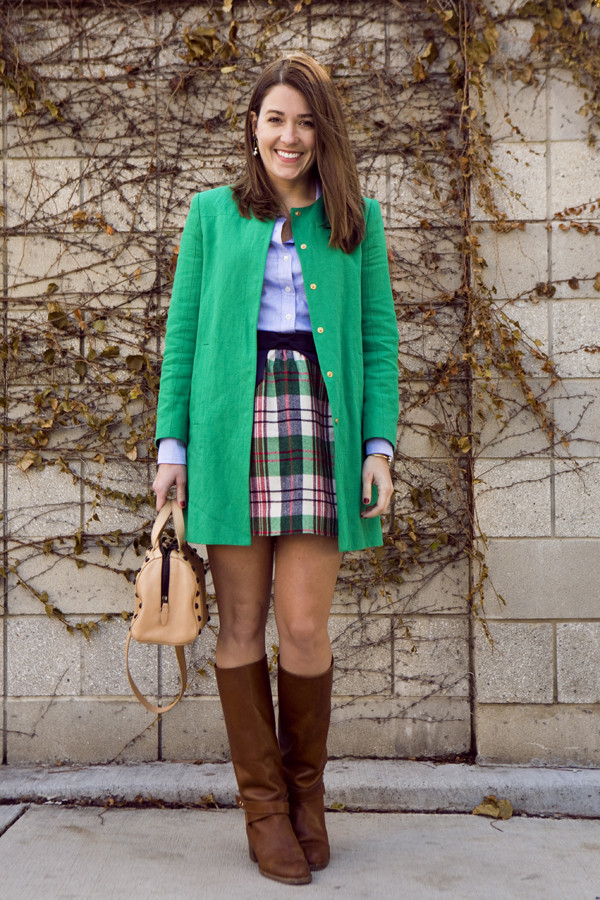 sequins and stripes coat shirt skirt shoes bag jewels
