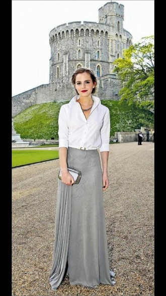 skirt emma watson make-up