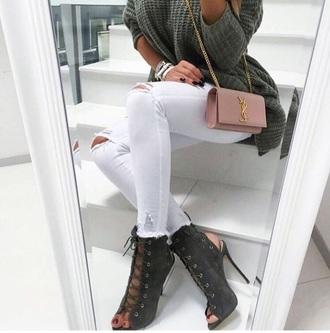 shoes heels designer green high heels boots ankle boots lace up boots