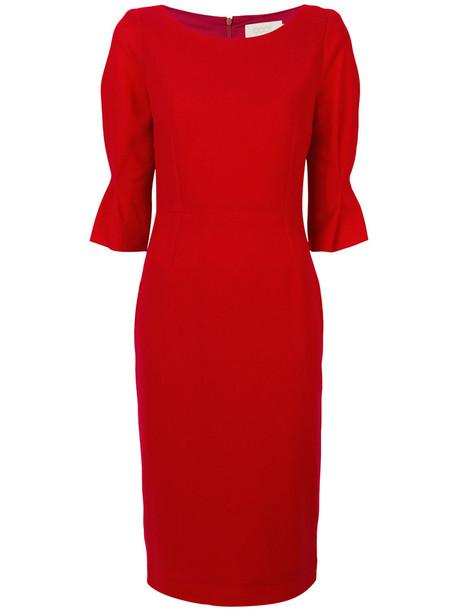 Goat dress women wool red