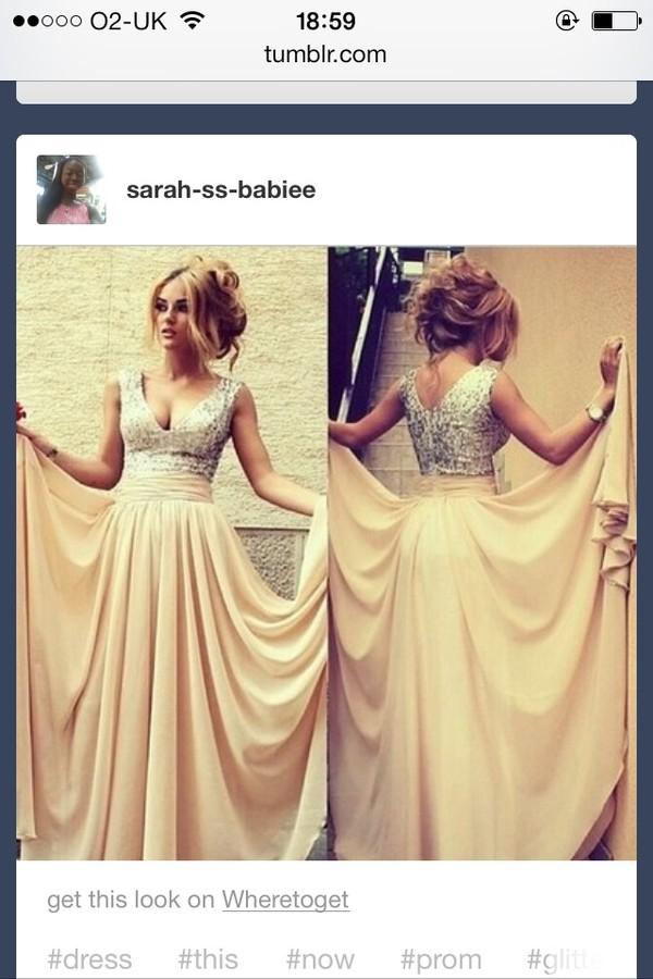 dress v neck prom dress clothes pretty