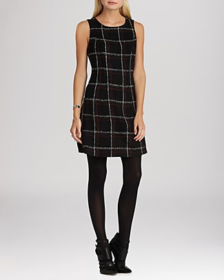 BCBGeneration Dress - Windowpane Plaid | Bloomingdale's