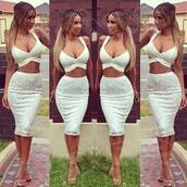 white dress,dress,two-piece