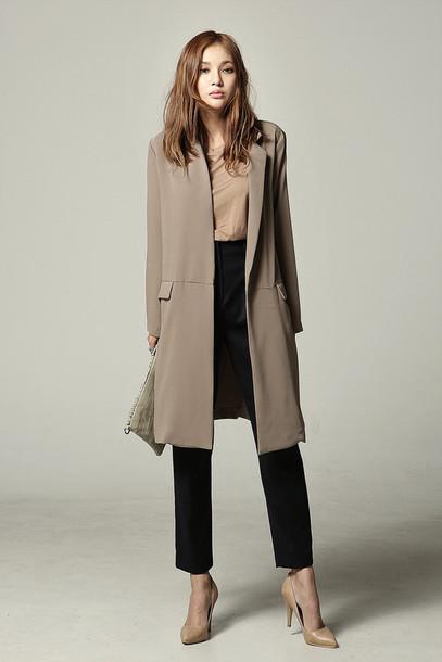 jacket, long jacket, korean fashion
