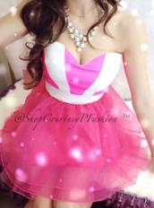dress,pink,white,stripes