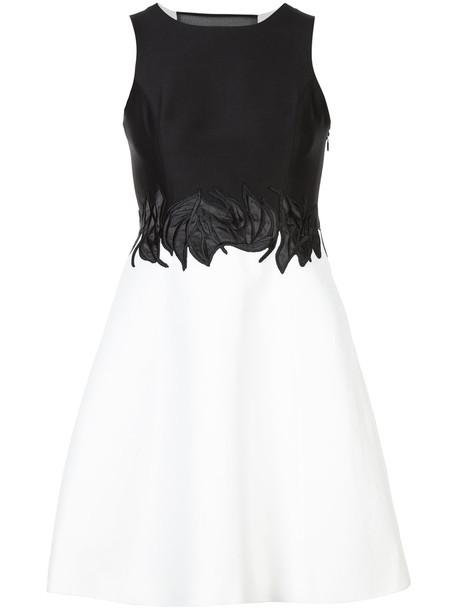 Halston Heritage dress women spandex embellished cotton black silk