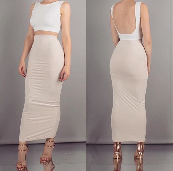 d28eb0023562 Aaliyah Maxi Suede Bodycon Skirt