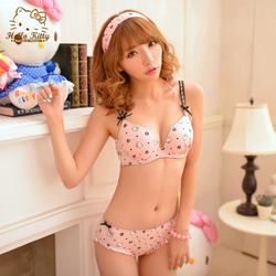 c22f07e7e Genuine HelloKitty classic full print bra 3 breasted gather comfortable  cotton cute Hello Kitty underwear-in ...