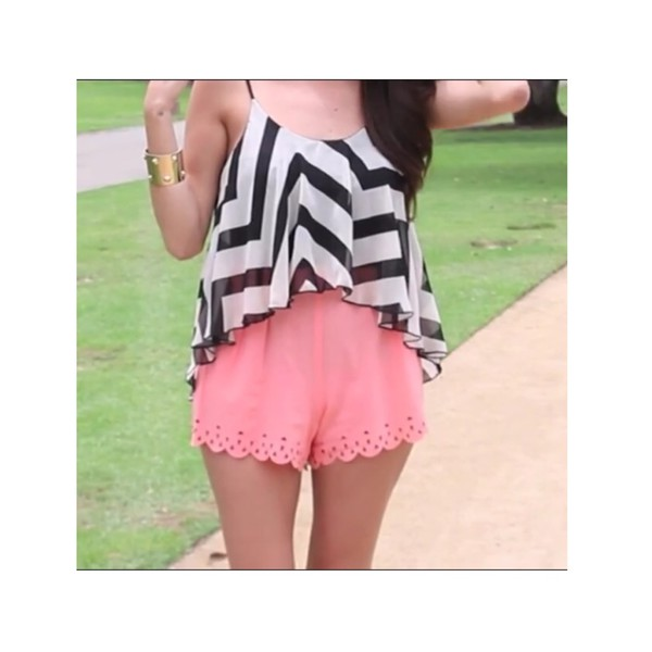 shorts rose cut-out sweet flowy