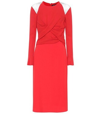 dress silk red