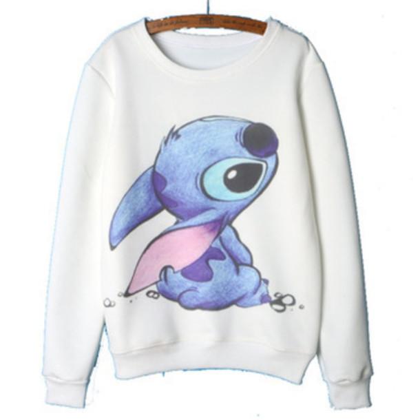 Sweater Sweatshirt Lilo And Stitch Wheretoget