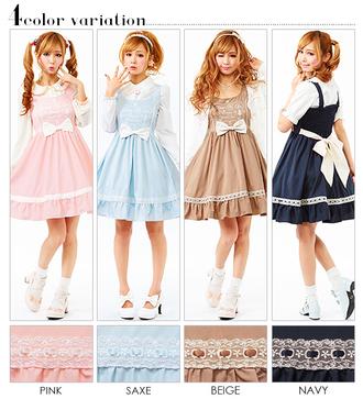 dress pastel cute girly pink blue navy beige summer dress