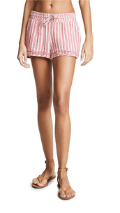 shorts,striped shorts,red