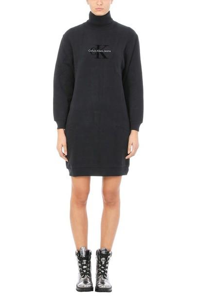 Calvin Klein dress sweater dress black