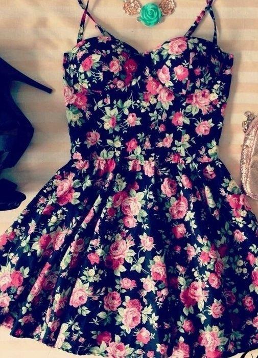 Bustier Dress Floral | eBay