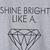 Grey Short Sleeve Letters Diamond Print T-Shirt - Sheinside.com