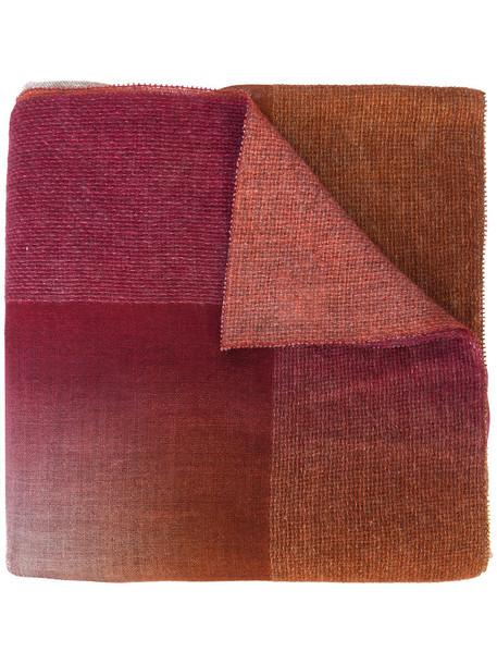 faliero sarti women scarf silk wool red