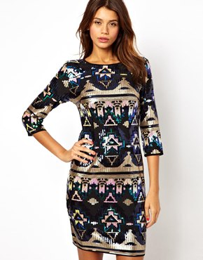 tfnc tribal sequin dress | ASOS