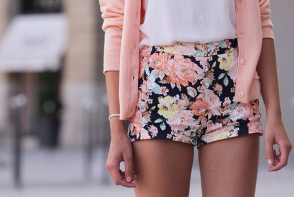 floral shorts short shorts colorful shorts