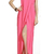 BCBG JESSE DRAPED STRAPLESS GOWN PINK