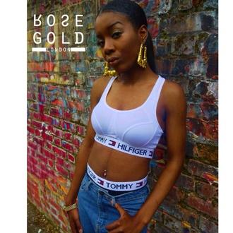 rose gold london sports bra sportswear 90s style streetwear belly button ring urban