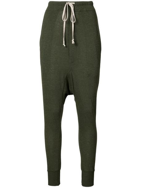 Rick Owens Lilies pants loose women fit wool green