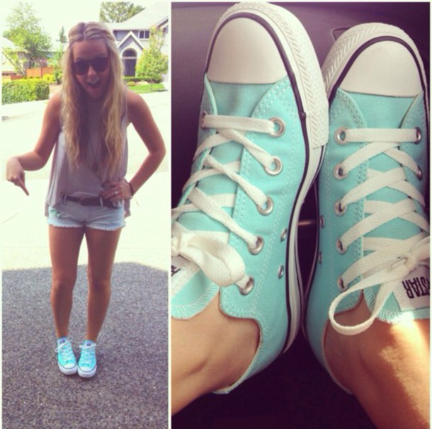 shoes tiffany blue converse