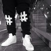 pants,black,joggers,harem pants,shoes