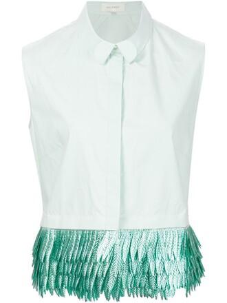 shirt sleeveless shirt sleeveless green top