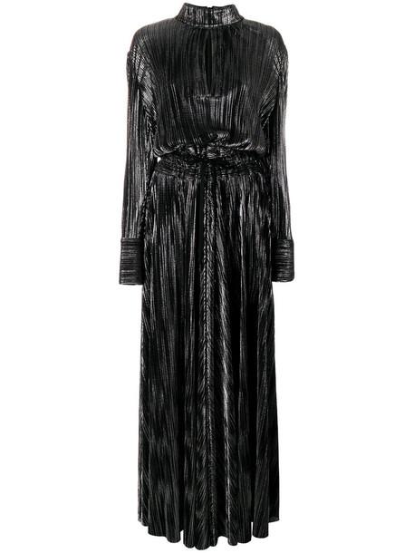 Pierre Balmain gown metallic women black dress