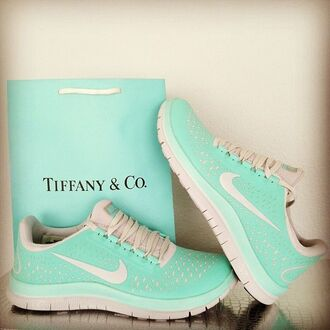 tiffany tiffany&co shoes nike sneakers tiffany blue nikes blue nike tiffany blue running shoes nike free run sneakers nike running shoes sportswear sports shoes