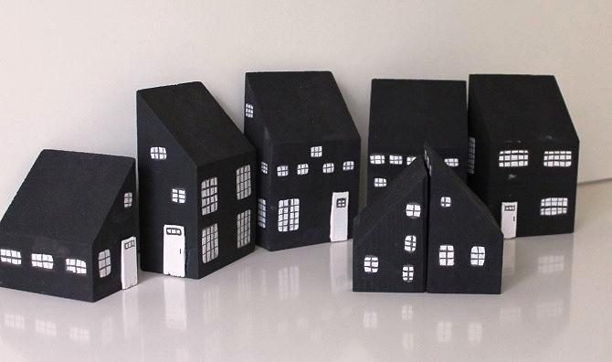 Black Icelandic cottages in Hellnar