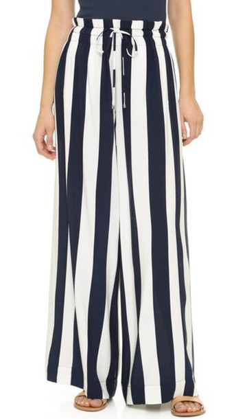 Splendid pants drawstring pants drawstring navy white