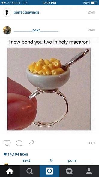 jewels macaroni ring