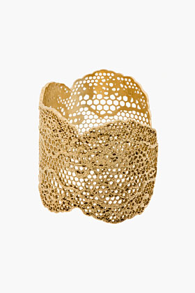 Aurélie Bidermann Gold Vintage Lace Cuff for women | SSENSE