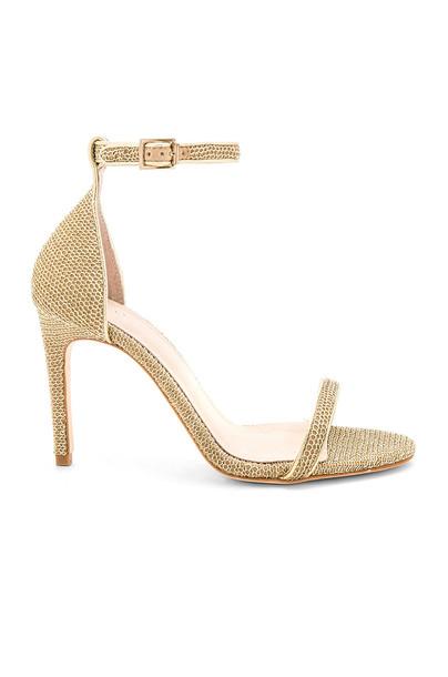 RAYE heel metallic gold shoes