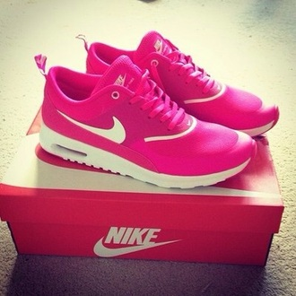 shoes pink shoes nike air pink nike airmax fuschia trainers nike running shoes running shoes workout shoes
