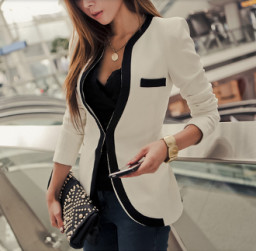Women's two tone blazer